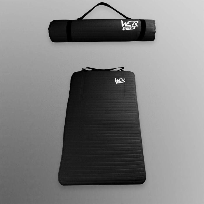 black 10mm yoga mat from WeRSports