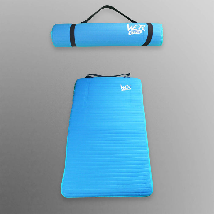 blue 10mm yoga mat from WeRSports