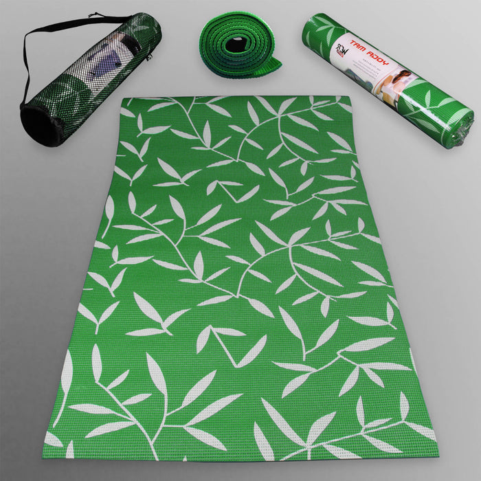 green YogaFlex Yoga Mat Pattern from WeRSports