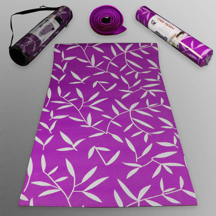 purple YogaFlex Yoga Mat Pattern from WeRSports