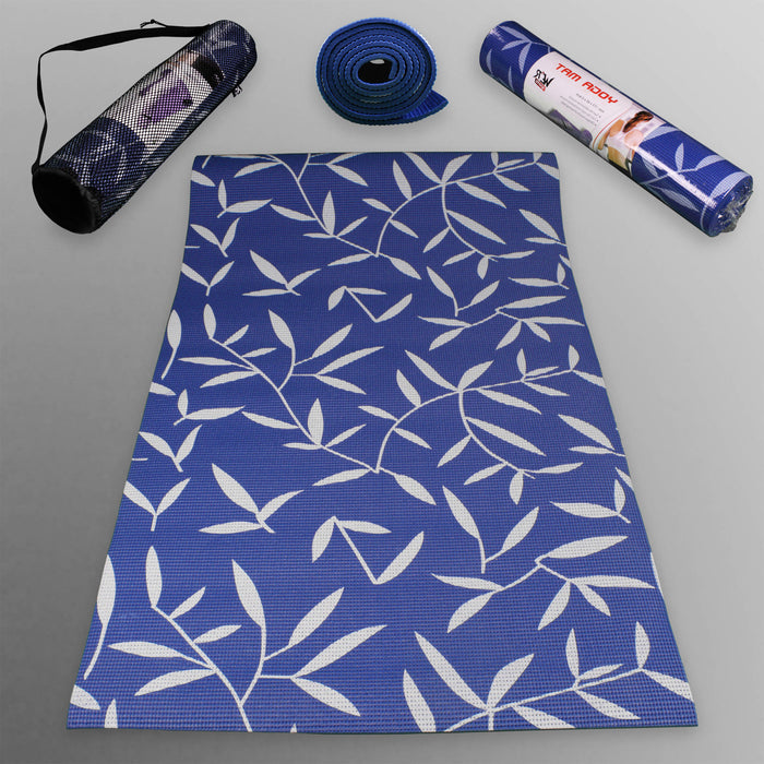 blue YogaFlex Yoga Mat Pattern from WeRSports