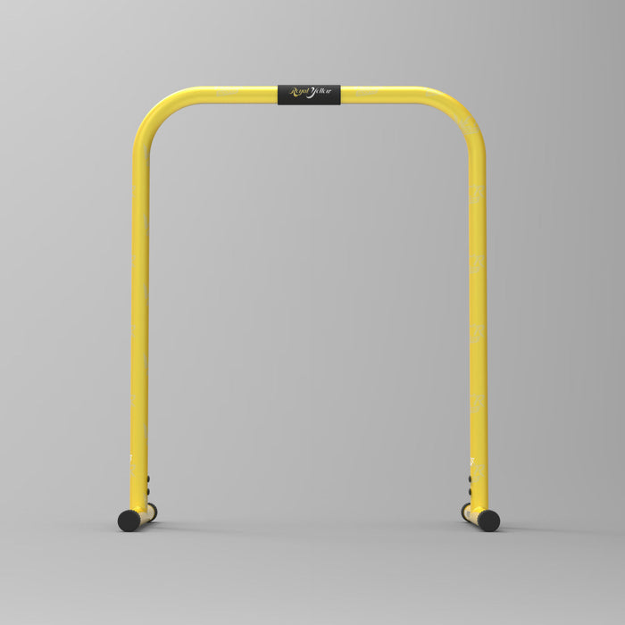 front view yellow parallel bars