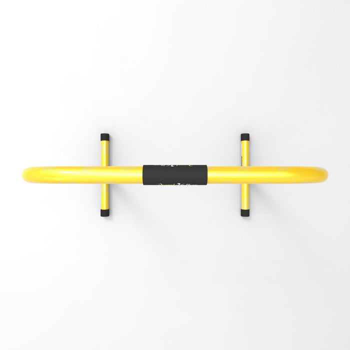top view yellow parallel bars