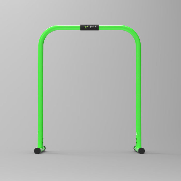 front view green parallel bars