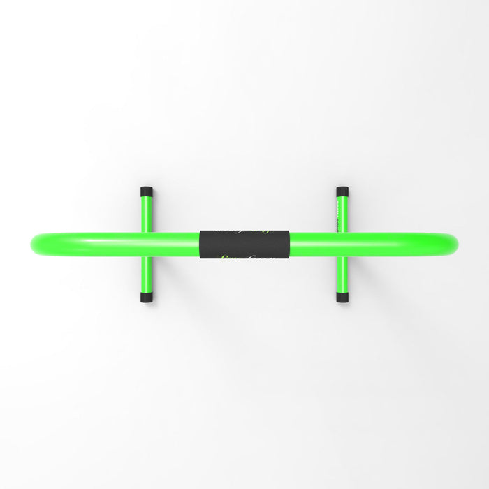 top view green parallel bars