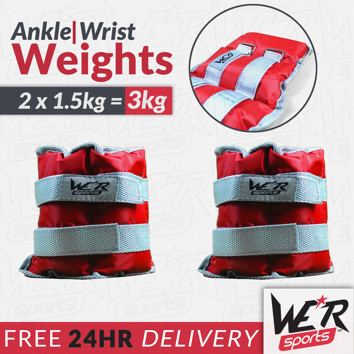 24 hr delivery 3kg RunFlex Ankle weights from WeRSports