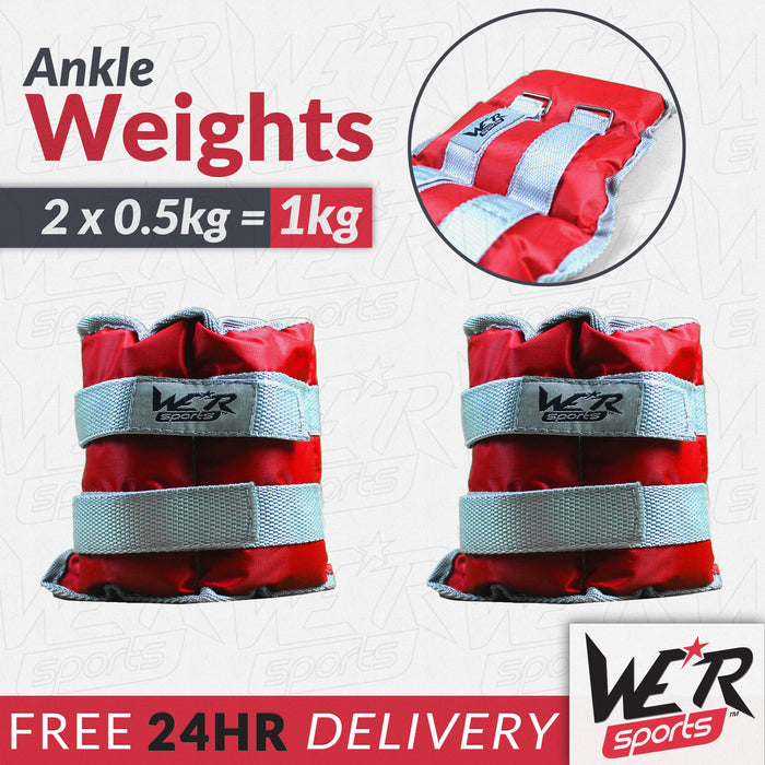 24 hr delivery 1kg RunFlex Ankle weights from WeRSports