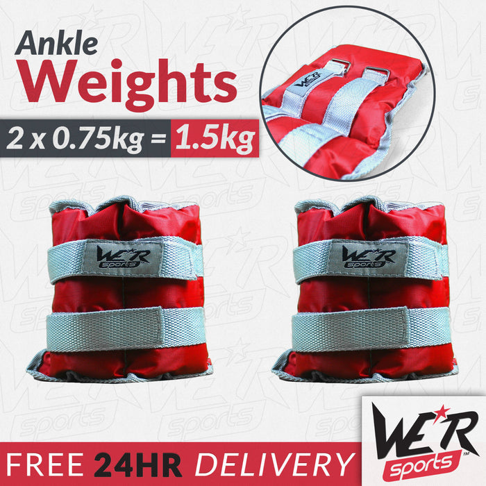 24 hr delivery 1.5kg RunFlex Ankle weights from WeRSports