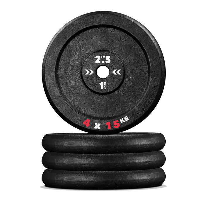4 15kg Cast iron weight plate