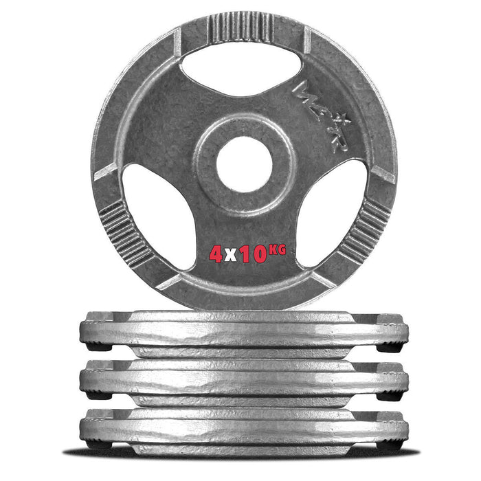 4 10kg cast iron weight plate