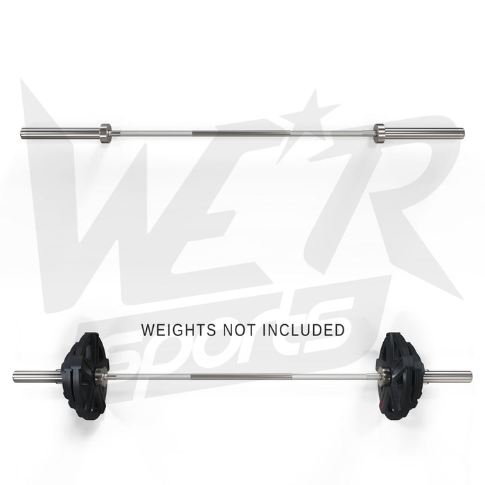 barbell bar with and without weights