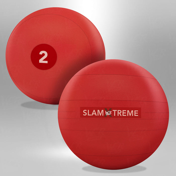 2kg red slam ball