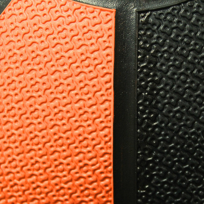 orange crossfit medicine ball surface