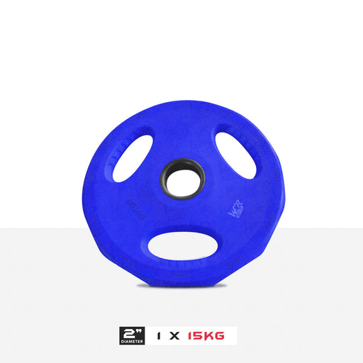 "1 15kg 2"" VibeFlex Tri Grip Weight Plates"