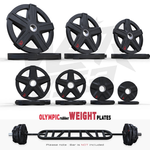 ReXFlex Olympic Rubber Encased Weight Plates from WeRSports