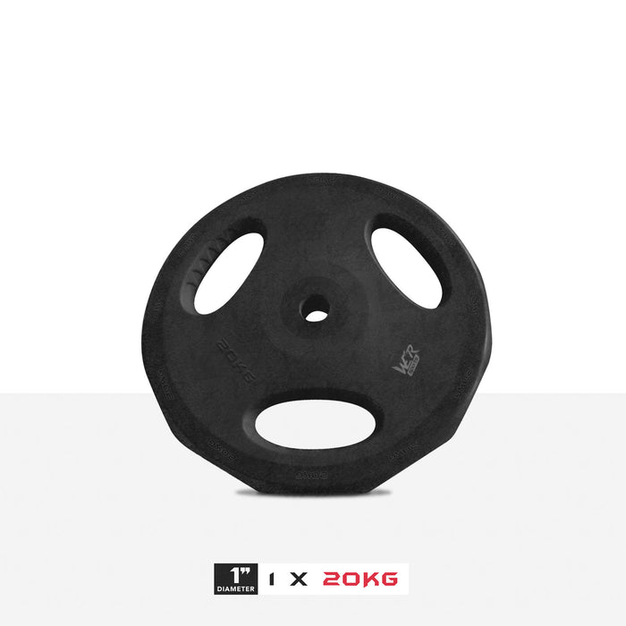 "1 20kg 1"" VibeFlex Tri Grip Weight Plates"