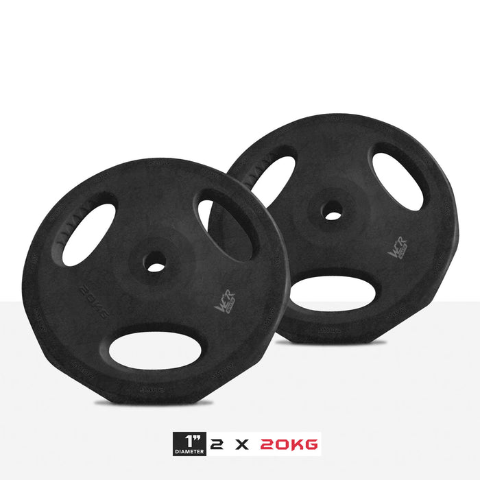 "2 20kg 1"" VibeFlex Tri Grip Weight Plates"
