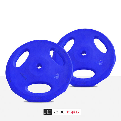 "2 15kg 1"" VibeFlex Tri Grip Weight Plates"