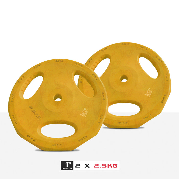 "2 2.5kg 1"" VibeFlex Tri Grip Weight Plates"
