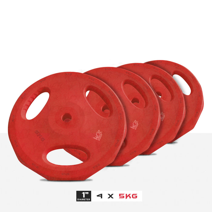 "4 5kg 1"" VibeFlex Tri Grip Weight Plates"