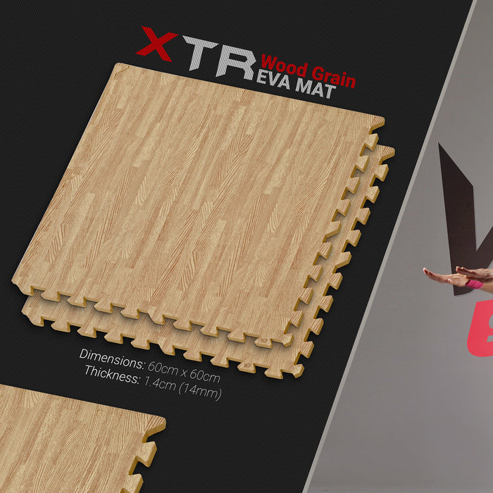 dark wood pattern YogaFlex EVA Soft Floor Mat from WeRSports