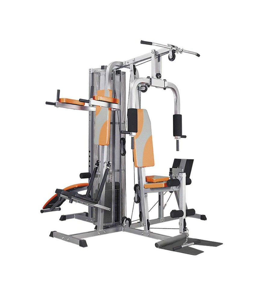 61bzc qmugl multi station home gym ab bench lat pull back biceps up