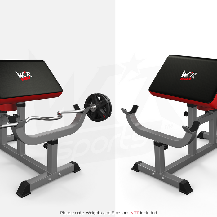Biceps preacher bench strength training from WeRSports
