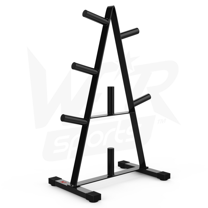 Weight rack stand without weights