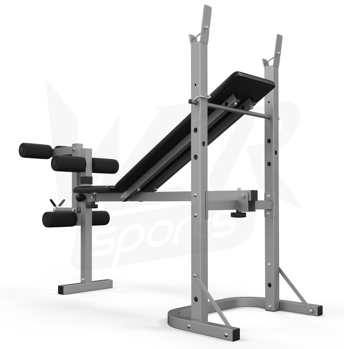 XBench folding weight bench back view from WeRSports