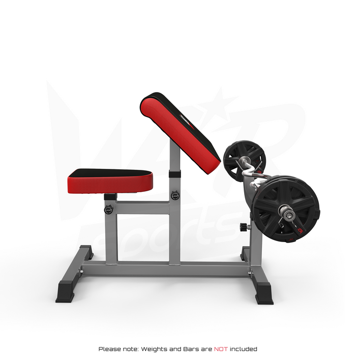 WeRSports biceps preacher bench side view