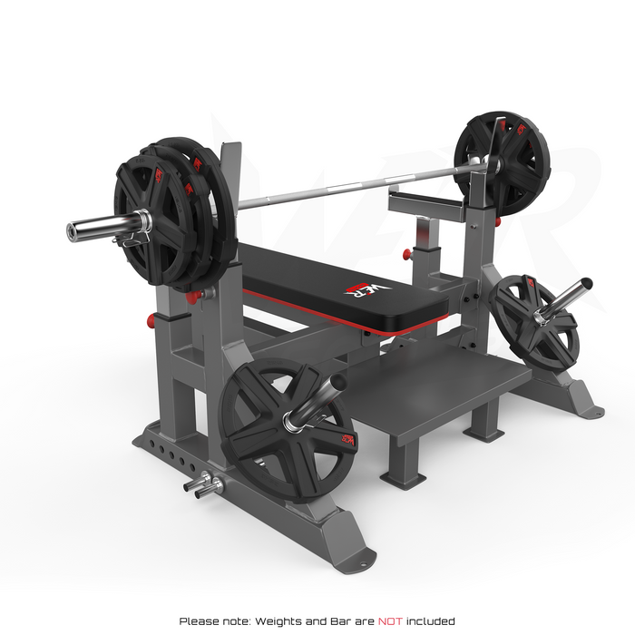 WeRSports weight bench plate rack