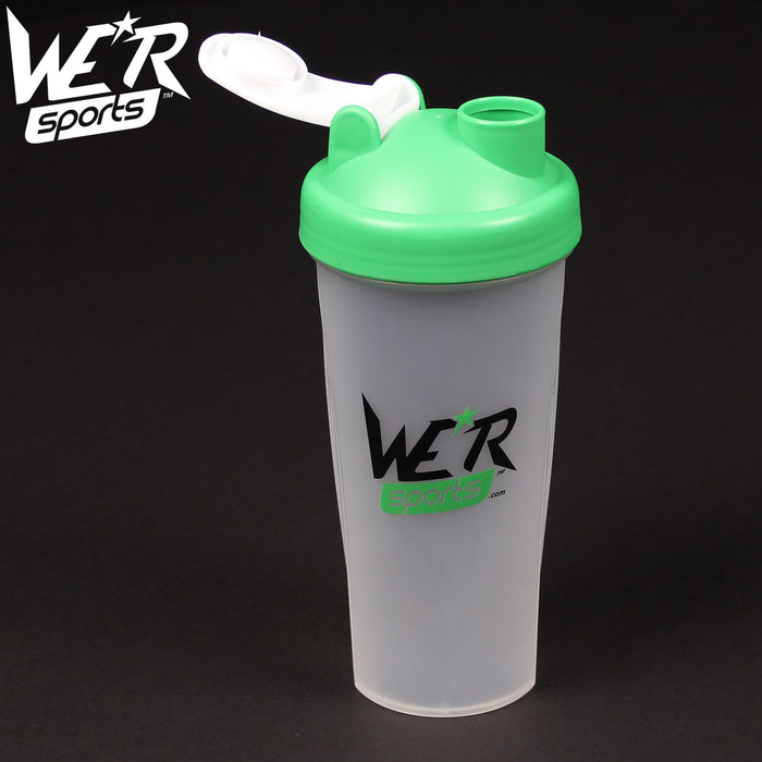 green 700ml shaker bottle from WeRSports