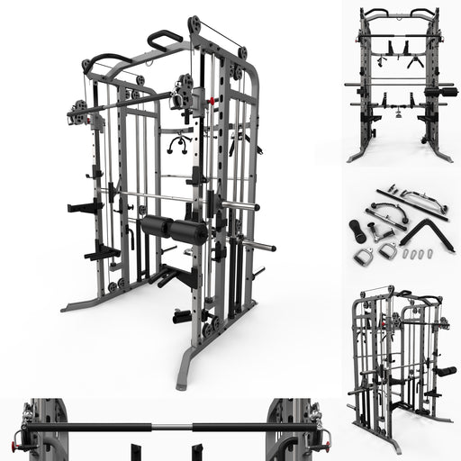 we r sports multi gym smith machine power rack main comercial cage silver