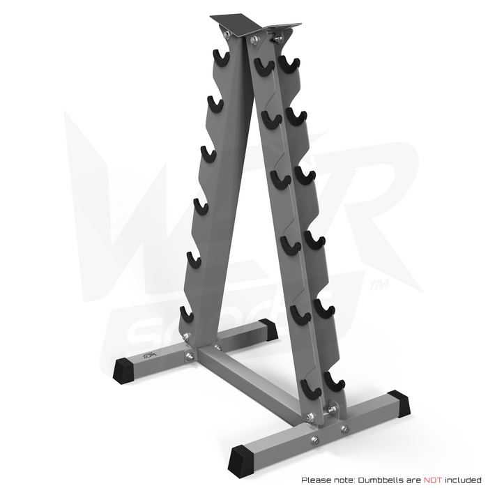 A Frame Dumbell Rack from WeRSports without weights