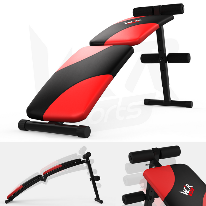 Black and red sit up bench from WeRSports