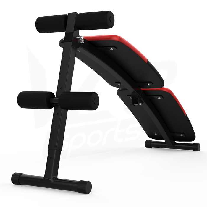 Bottom view of the AbRipX 2 ab crunch sit up bench