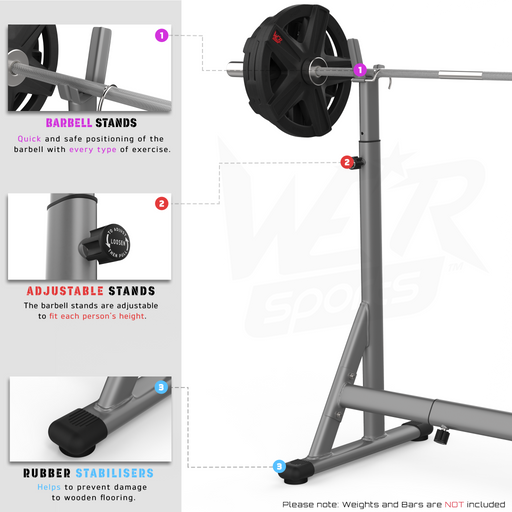 Squat Barbell Rack features