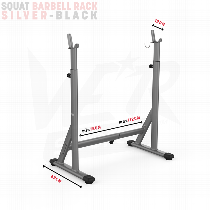 Barbell rack size dimensions
