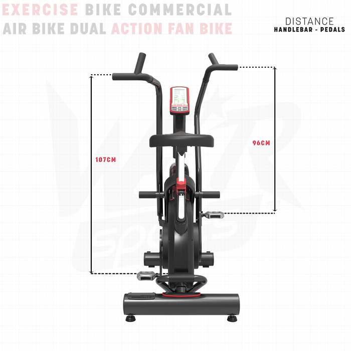 Exercise bike height dimensions