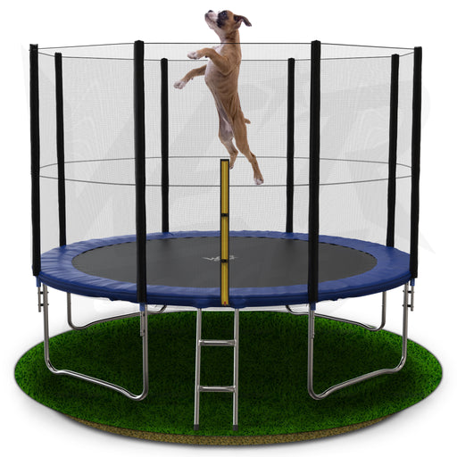 BounceXtreme Garden Trampoline with Ladder and RainCover with child playing