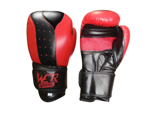 We R Sports Boxing Gloves in Red and Black