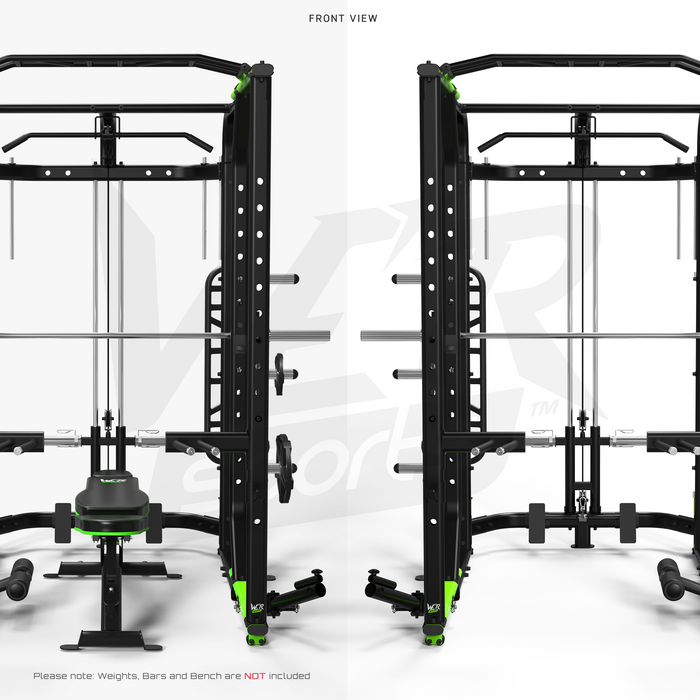 MaxiLift Foldable Crossfit TM Power Rack front view