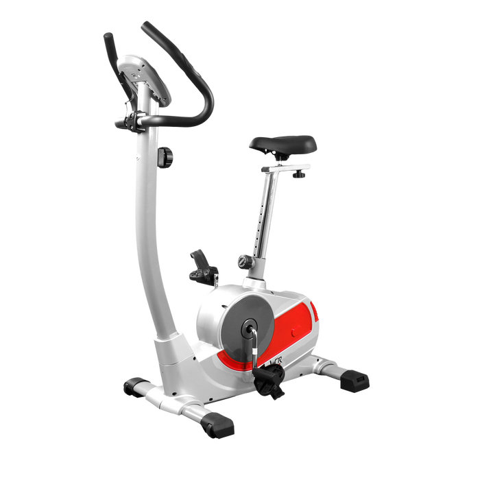 RideX silver and red exercise bike from WeRSports
