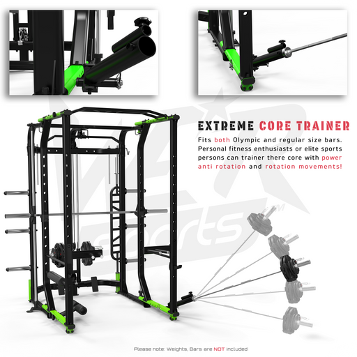 Foldable crossfit rack core training