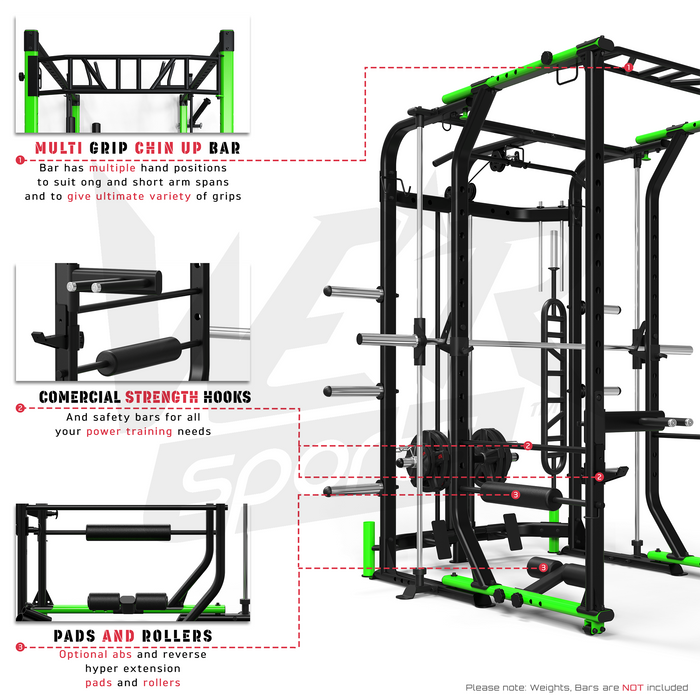 MaxiLift Foldable Crossfit TM Power Rack quick release system
