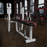 BenchXPower weight bench white and red rack and plate holder from WeRSports