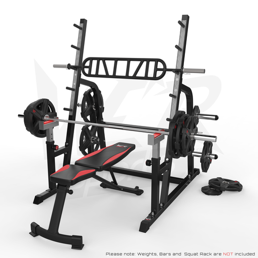 WeRSports weight bench comes in black and red