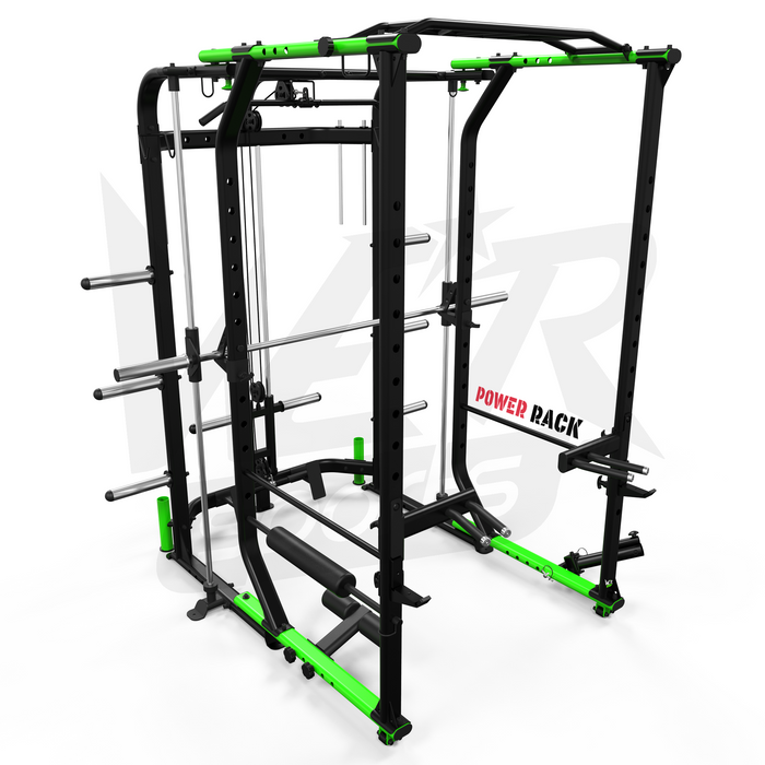 MaxiLift Foldable Crossfit TM Power Rack - hole positions