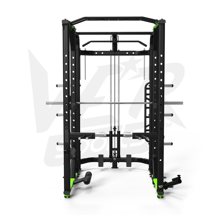 Front view of foldable crossfit rack