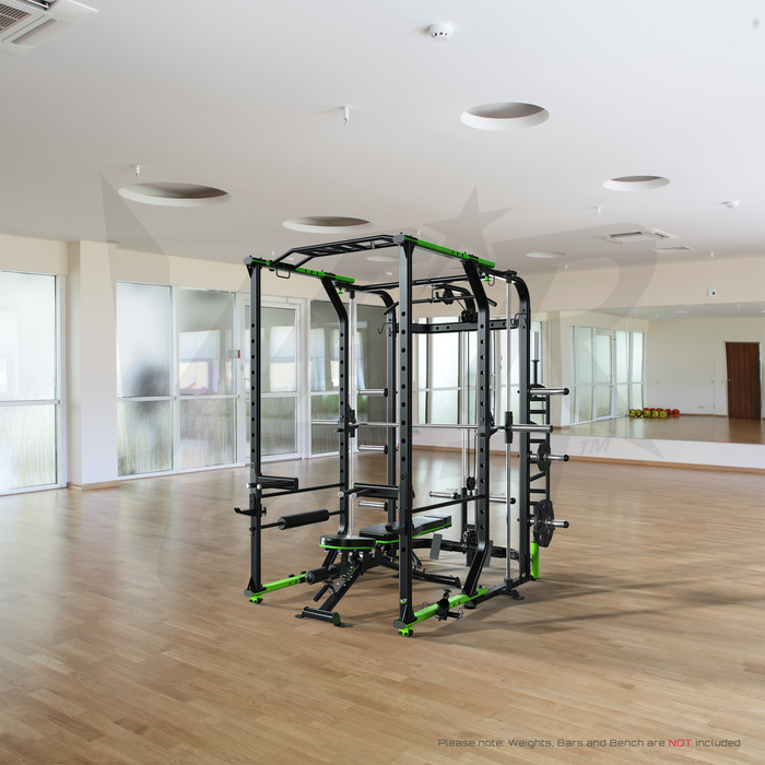 MaxiLift Foldable Crossfit TM Power Rack ride side view
